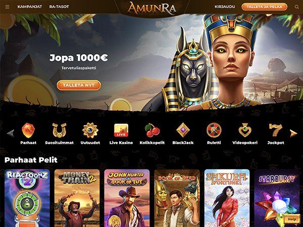 Amunra Casino etusivu