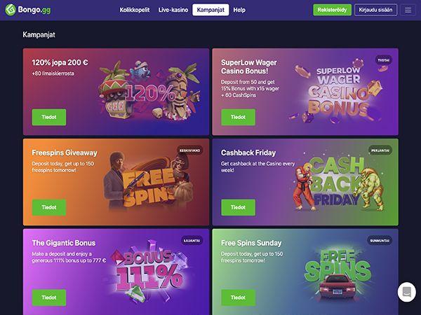 Bongo.gg Casino kampanjat