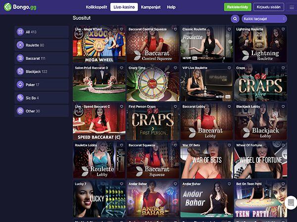 Bongo.gg Casino live casino