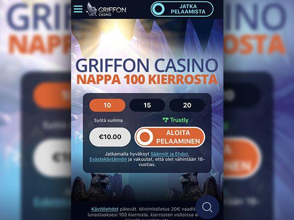 Griffon Casino mobiili
