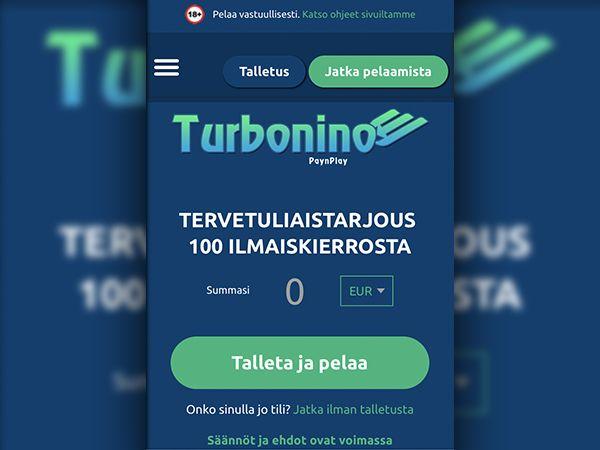 Turbonino Casino mobiili