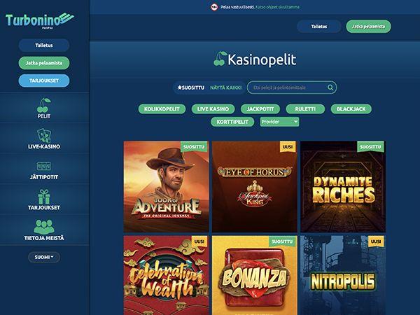 Turbonino Casino pelit