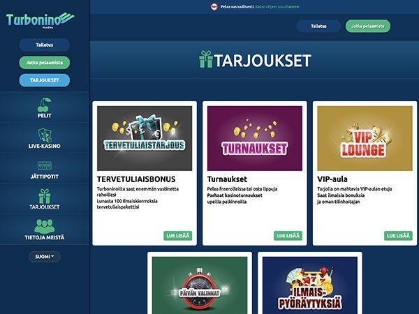 Turbonino Casino tarjoukset