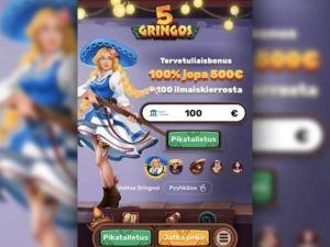 5gringos casino mobiili