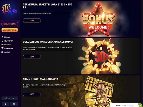 JVSpin Casino kampanjat