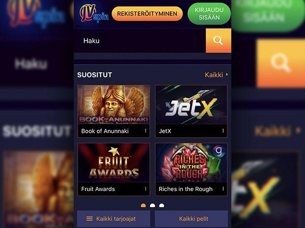 JVSpin Casino mobiili