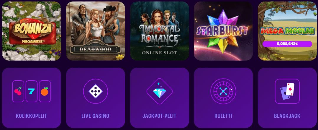 Wheelz casino pelit
