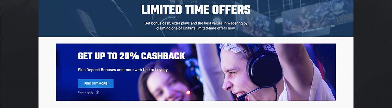 Unikrn Casino tarjouksia