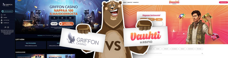 Vertaa nettikasinot: Griffon ja Vauhti nettikasino