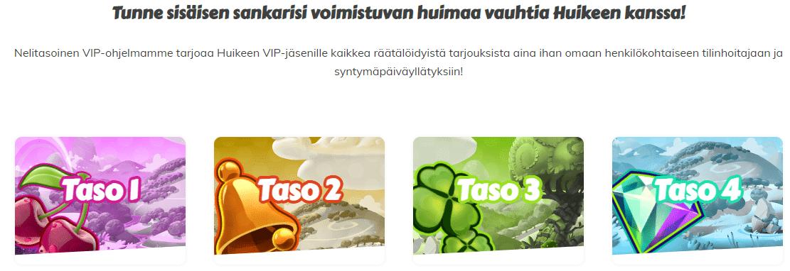 Huikee kasino VIP-ohjelma