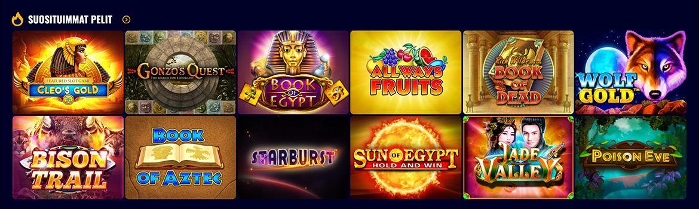 Savarona Casino pelivalikoima