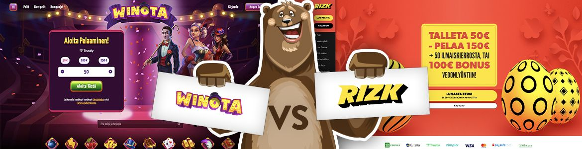 Winota vs Rizk casino