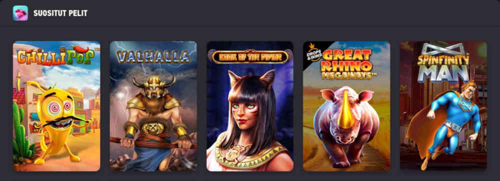 FEZbet casinon suositut pelit