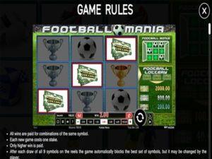 Fooball Mania säännöt