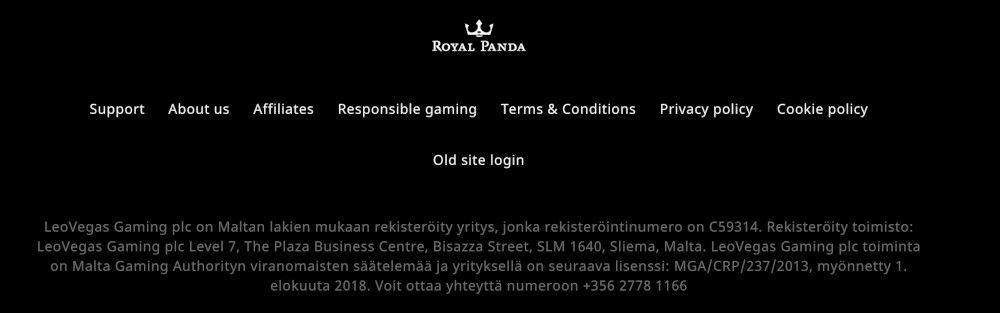 Royal Panda keskeneräinen käännös