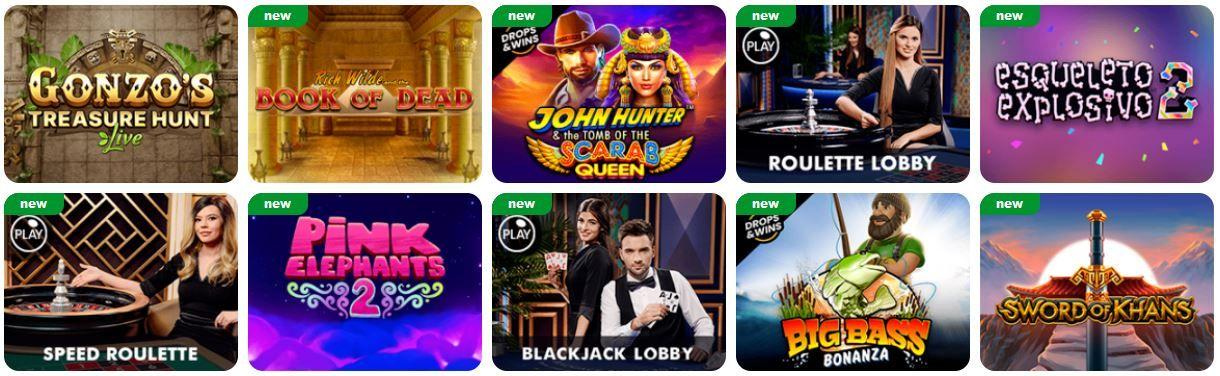 BluVegas Casino Pelit