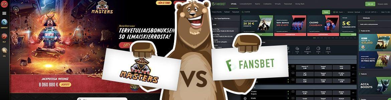 CasinoMasters ja Fansbet nettikasino