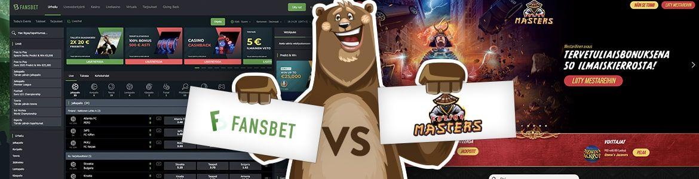 Fansbet vs casinomasters