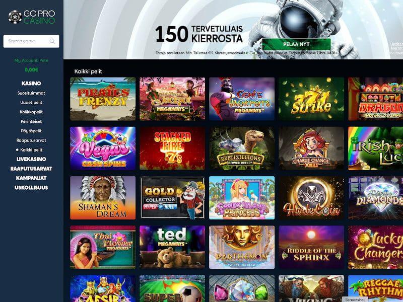 GoPro Casino Pelit