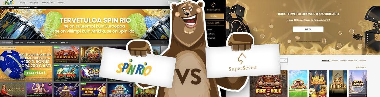 Vertaa nettikasinot: SpinRio ja Superseven nettikasino