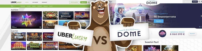 Uberlucky vs casinodome