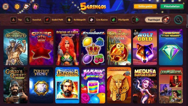 5Gringos Casino Pelit