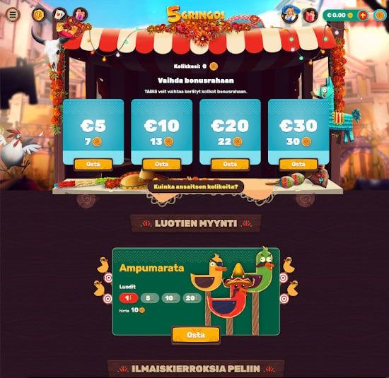 5Gringos Casino Tarjoukset