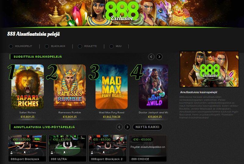 888 Casino Pelit