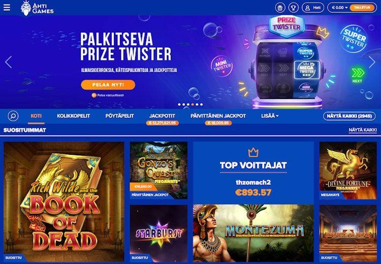 AHTI Games Casino Käytettävyys ja Ulkoasu
