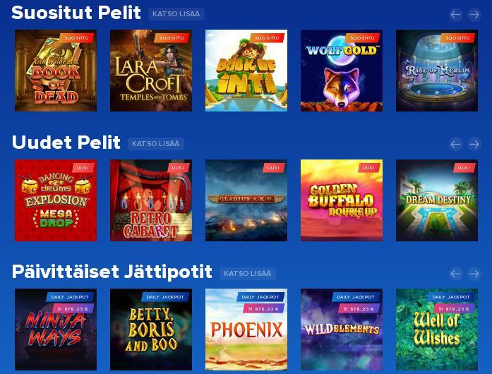 AHTI Games Casino Pelit