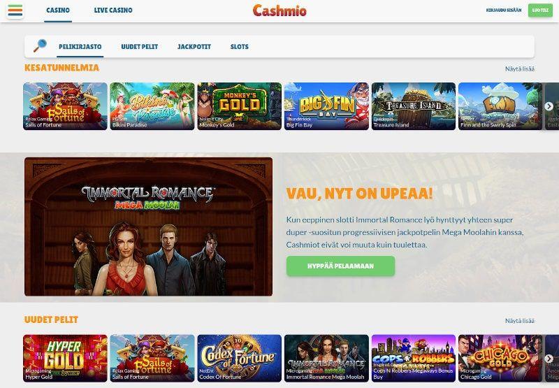 Cashmio Casino Käytettävyydestä