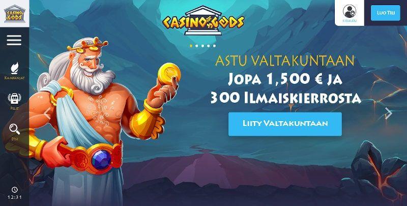 Casino Gods Bonukset