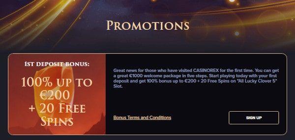 CasinoRex Tarjoukset