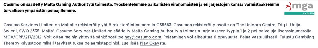 Casumo Casino Lisenssi