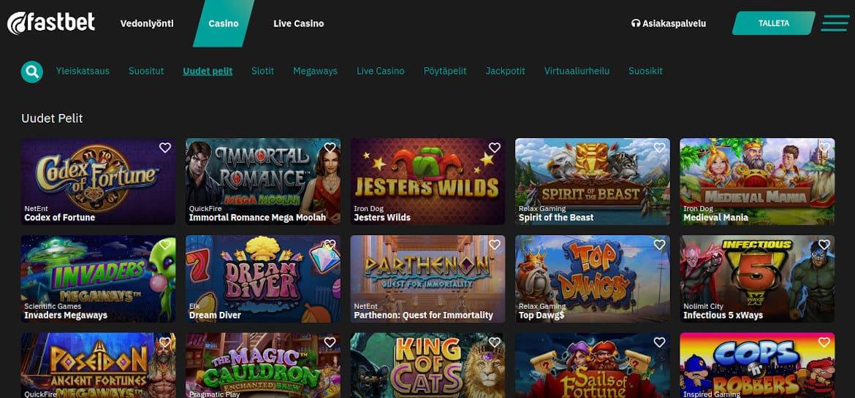 Fastbet Casino pelit