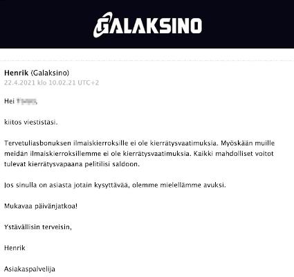 Galaksino Caisno aspa