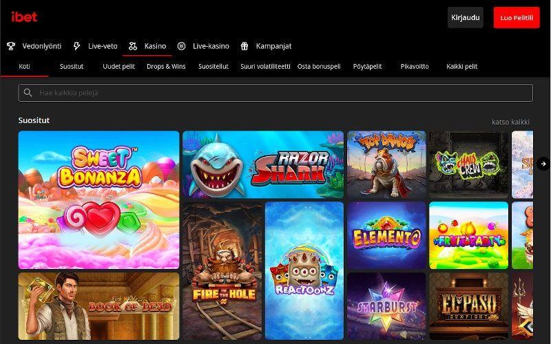 iBet Casino Pelit