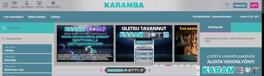 Karamba Casino vedonlyönti