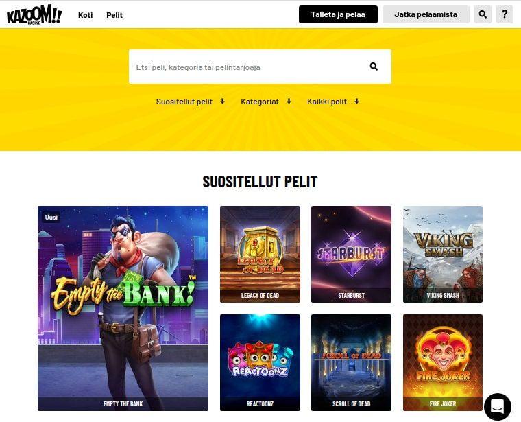 Kazoom Casino Pelit