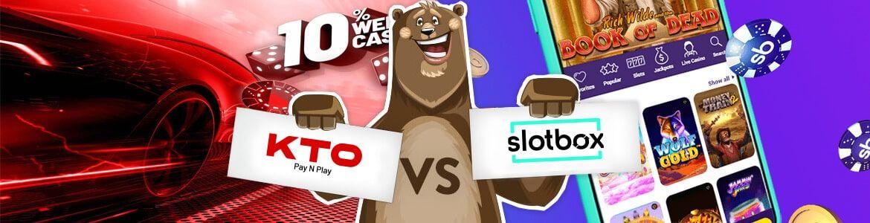 Vertaa nettikasinot: Slotbox ja KTO nettikasino