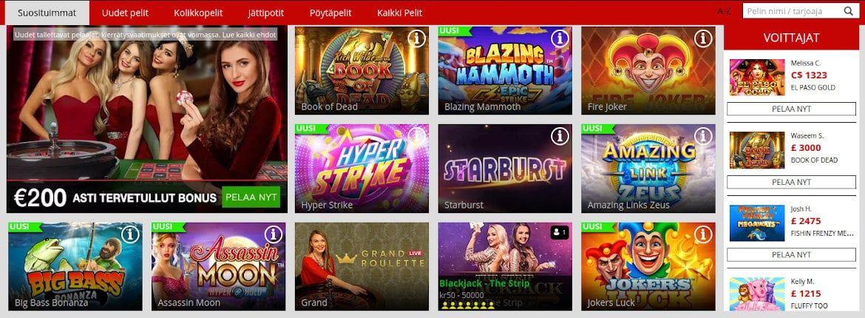 MagicRed Casino Pelit