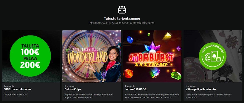Mobilebet Casino Tarjoukset