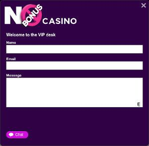 No Bonus Casino Livechat