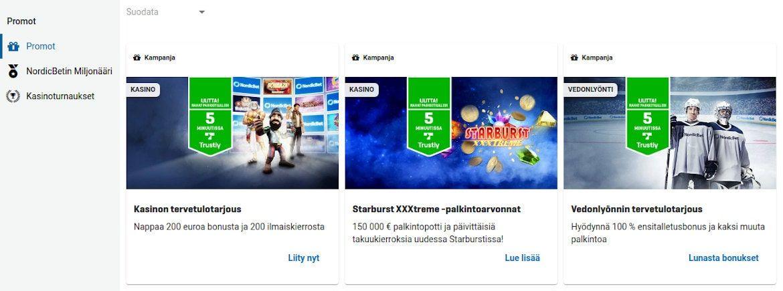 NordicBet Casino Kampanjat
