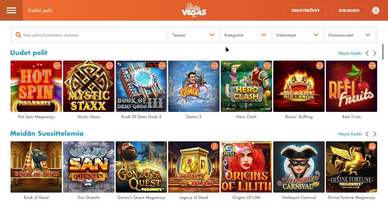 Slotty Vegas Casino Pelit