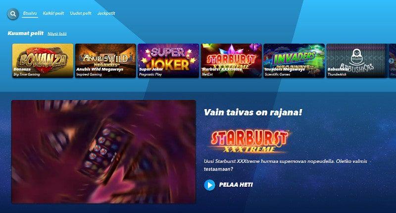SuperNopea Casino Pelit