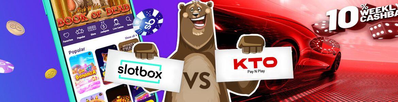 Slotbox casino vs KTO