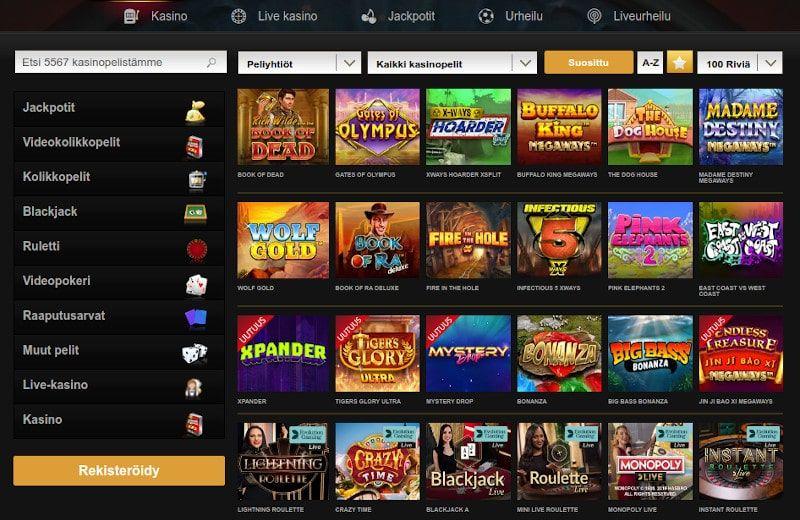 Videoslots Casino Pelit