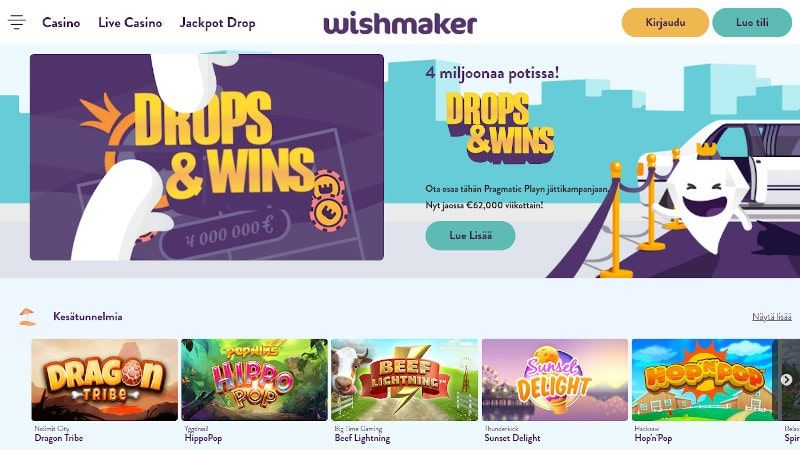 Wishmaker Casino Käytettävyydestä