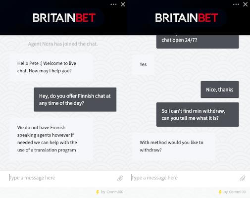 BritainBet Casino aspa